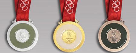 """双语:""""金镶玉""""北京2008年奥运会奖牌发布图片"""