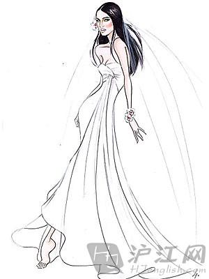 手绘男士婚礼西装
