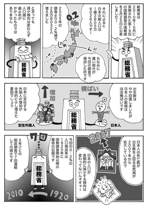 【漫画新闻】日本人口增加率再创新低
