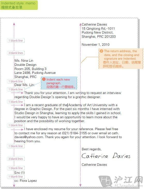 【英文商务书信 范例应用】三种商务书信格式图片