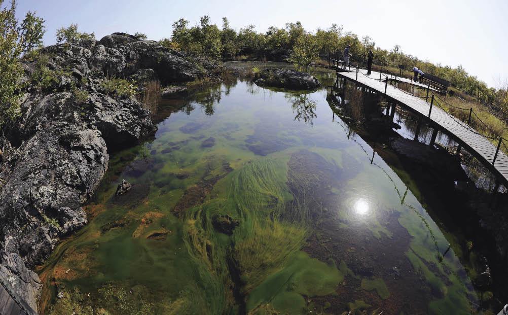 """黑龙江黑河:五大连池风景区""""温泊""""景色"""