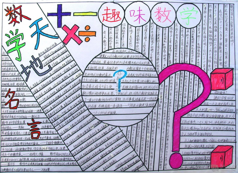 五年级数学手抄报_五年级数学手抄报图