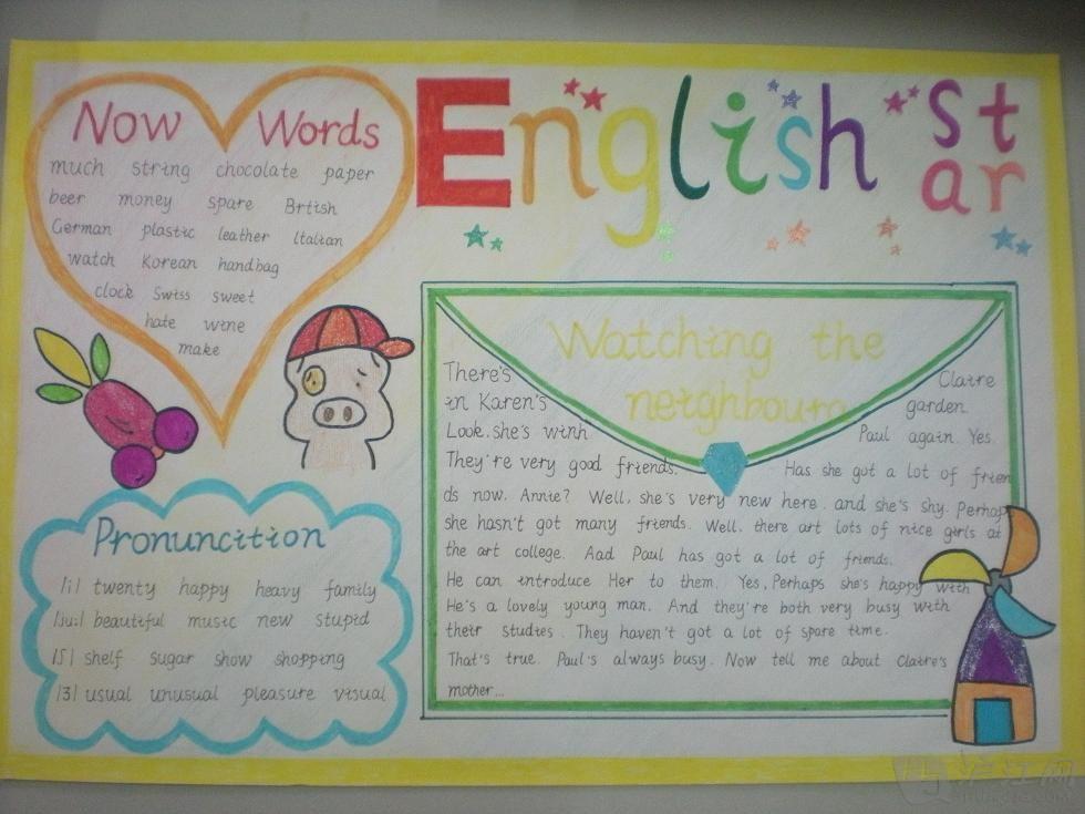 四年级英语手抄报(二)