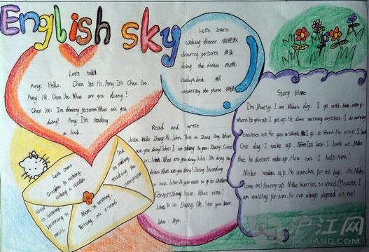 五年级英语周之手抄报;; 五年级英语手抄报图; 五年级英语简单手抄报