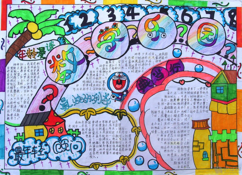 五年级数学手抄报(一)