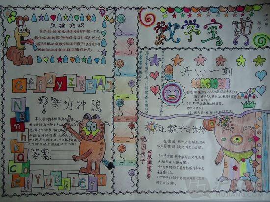 四年级数学手抄报(二)图片