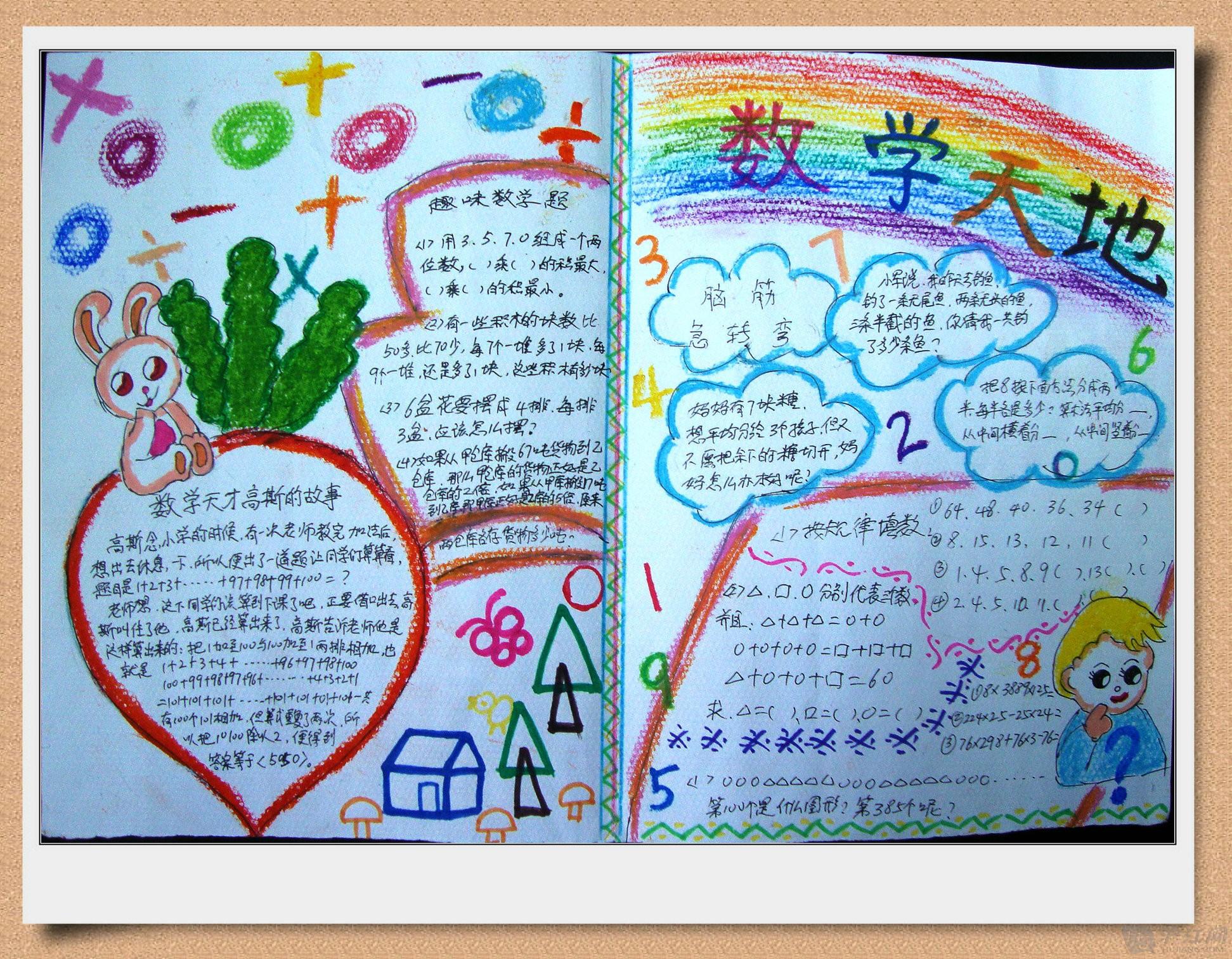 小学四年级数学手抄报图片图片