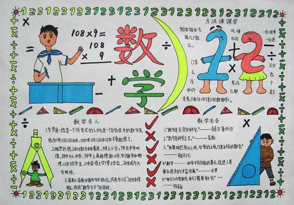 二年级数学手抄报(一)