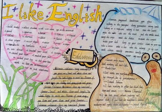 五年级英语手抄报 一