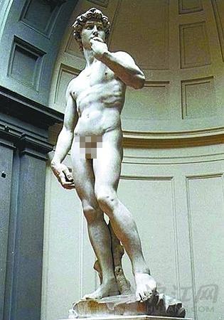 """央视播""""大卫雕像""""打马赛克:少儿不宜还是不尊重艺术?"""