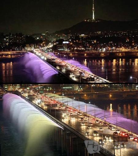 盘普大桥喷泉