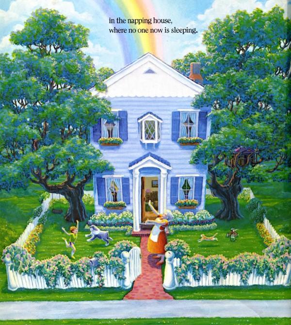 原版绘本《打瞌睡的房子》 -  李可儿 - 这里是包外实小四(1)班李可儿的成长博客
