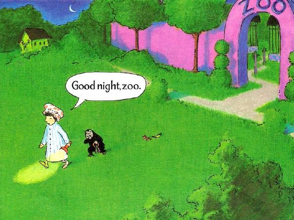 原版绘本阅读:晚安,大猩猩-打印版式