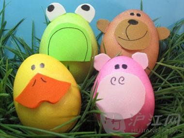 这些可爱的,简单易行的动物彩蛋适用于孩子和成人来制作.