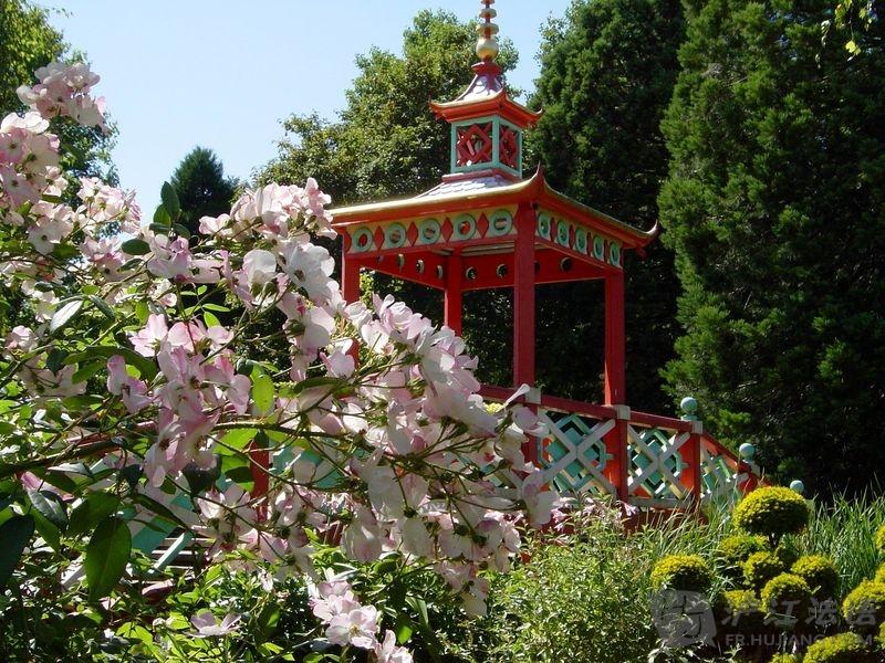 花卉雕塑 城堡